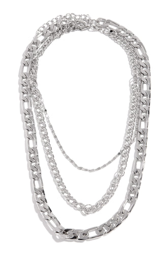 Everything Poppin Necklace Set - Silver