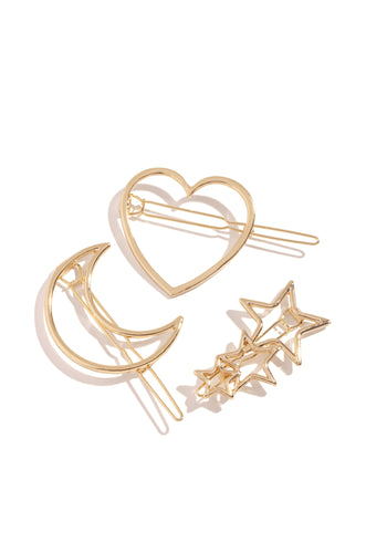 Heart Of The City Hair Clip - Gold