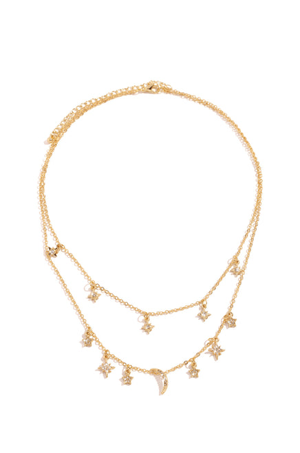 Under The Stars Necklace - Gold