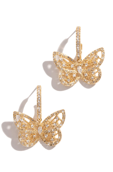 Fly Baby Earring - Gold