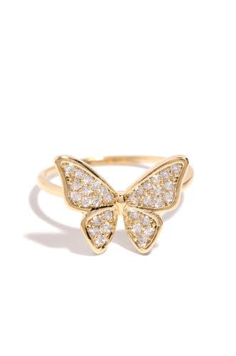Winged Beauty Ring - Gold