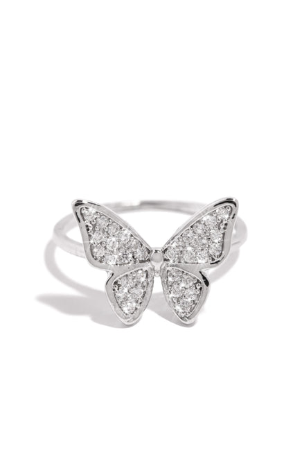 Winged Beauty Ring - Silver