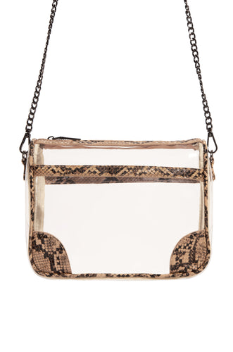 Haute Reveal Crossbody - Nude Snake