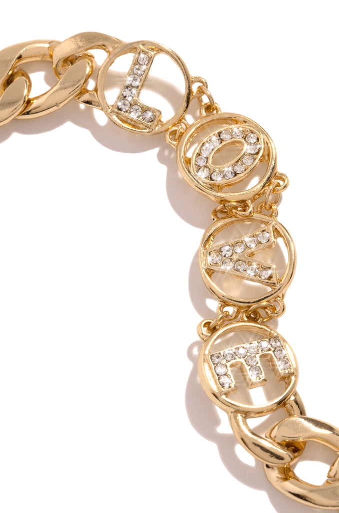 With Love Bracelet - Gold