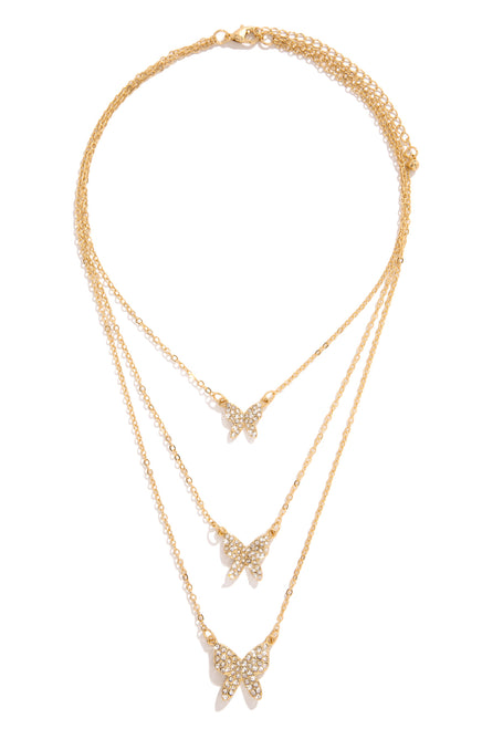 Pretty Fantasies Necklace - Gold