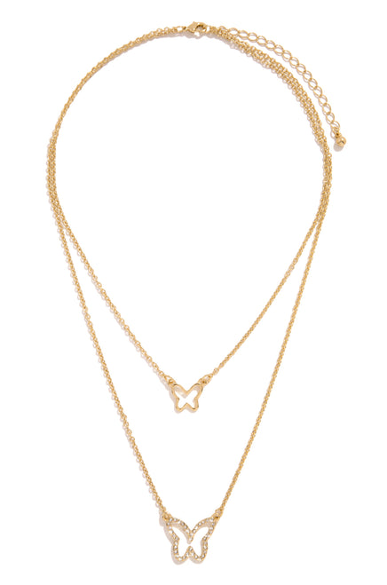 Social Beauty Necklace - Gold