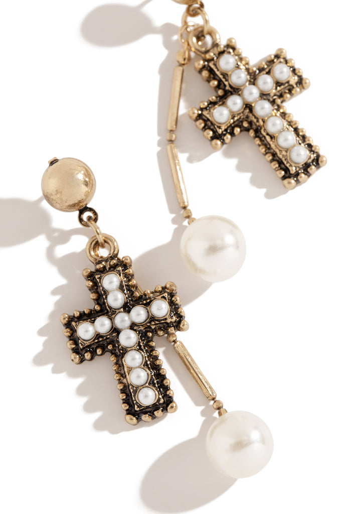 Straight To Heaven Earring - Gold