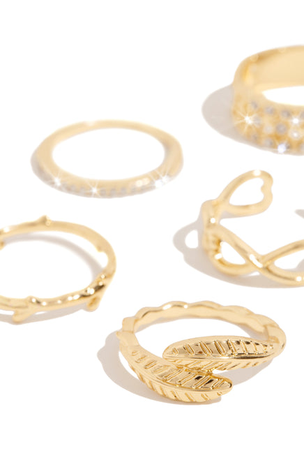 Penelope Ring Set - Gold