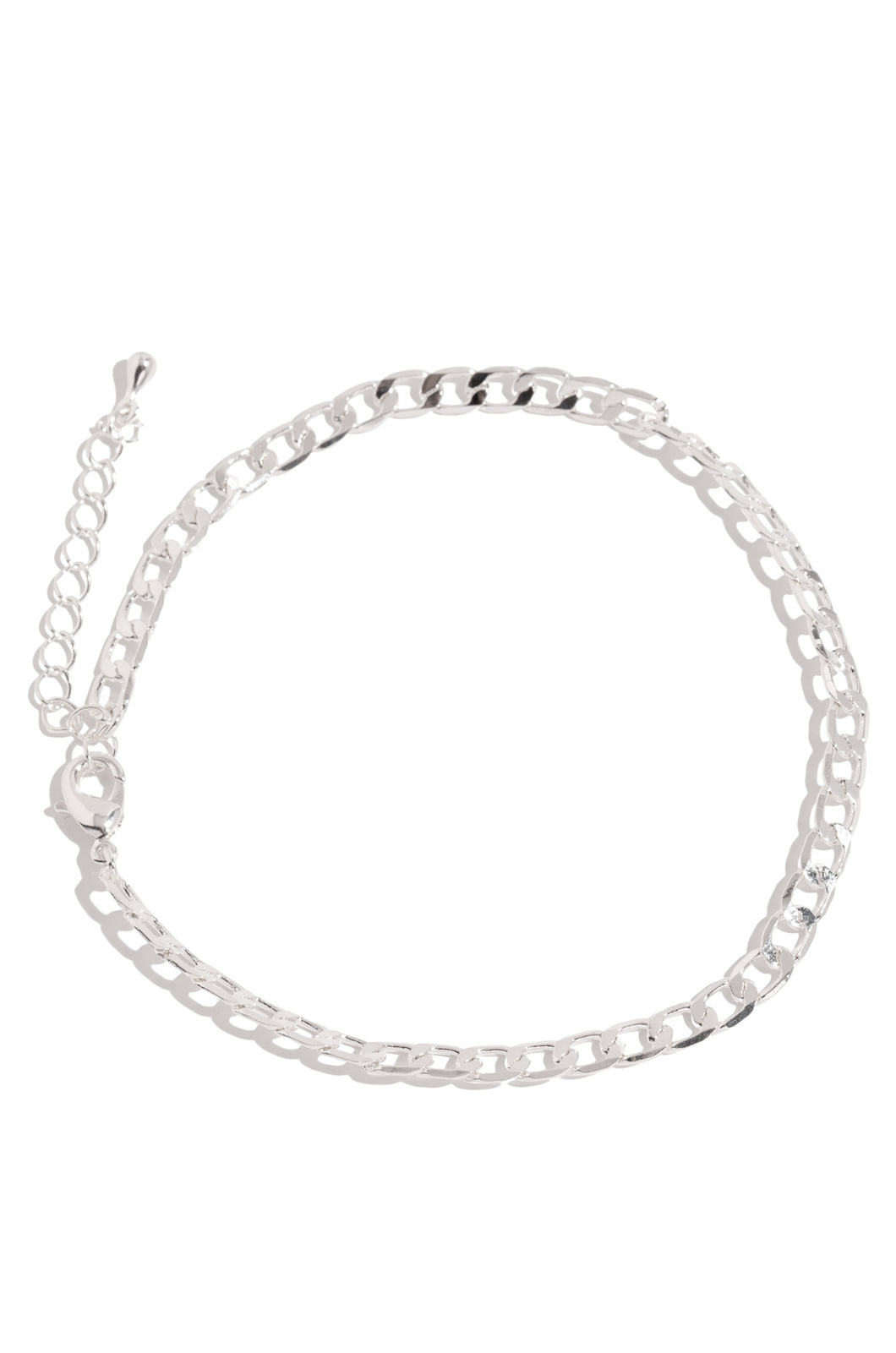 Cuban Anklet - Silver
