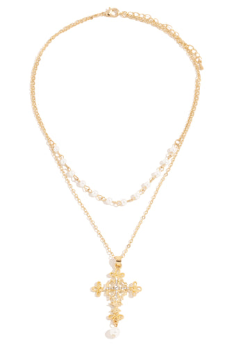 Game Of Angels Necklace - Gold
