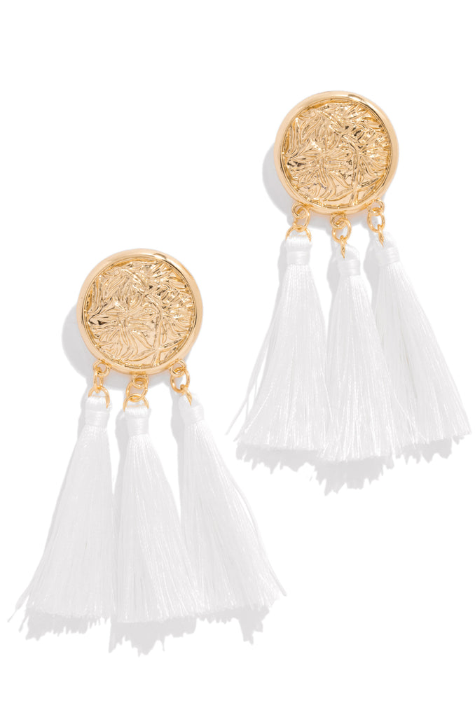 Chase The Sun Earring - White