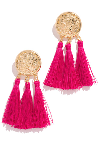 Chase The Sun Earring - Fuchsia