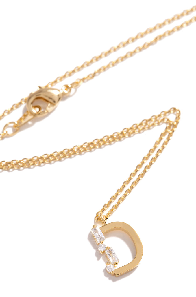 D Necklace - Gold