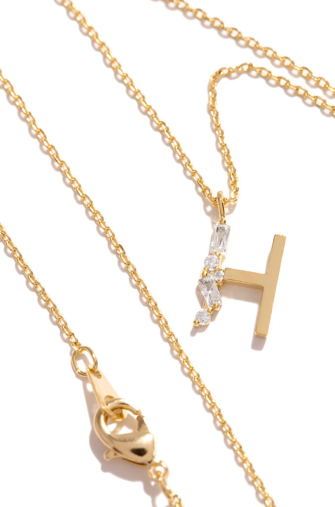 H Necklace - Gold