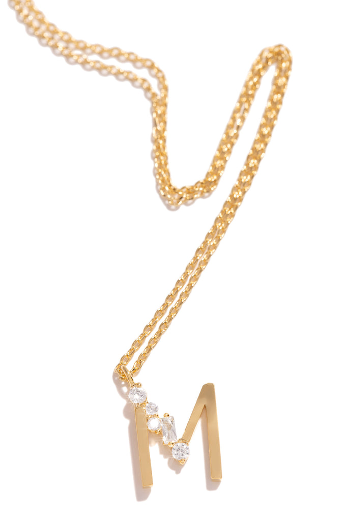 M Necklace - Gold