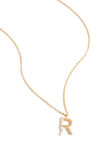 R Necklace - Gold