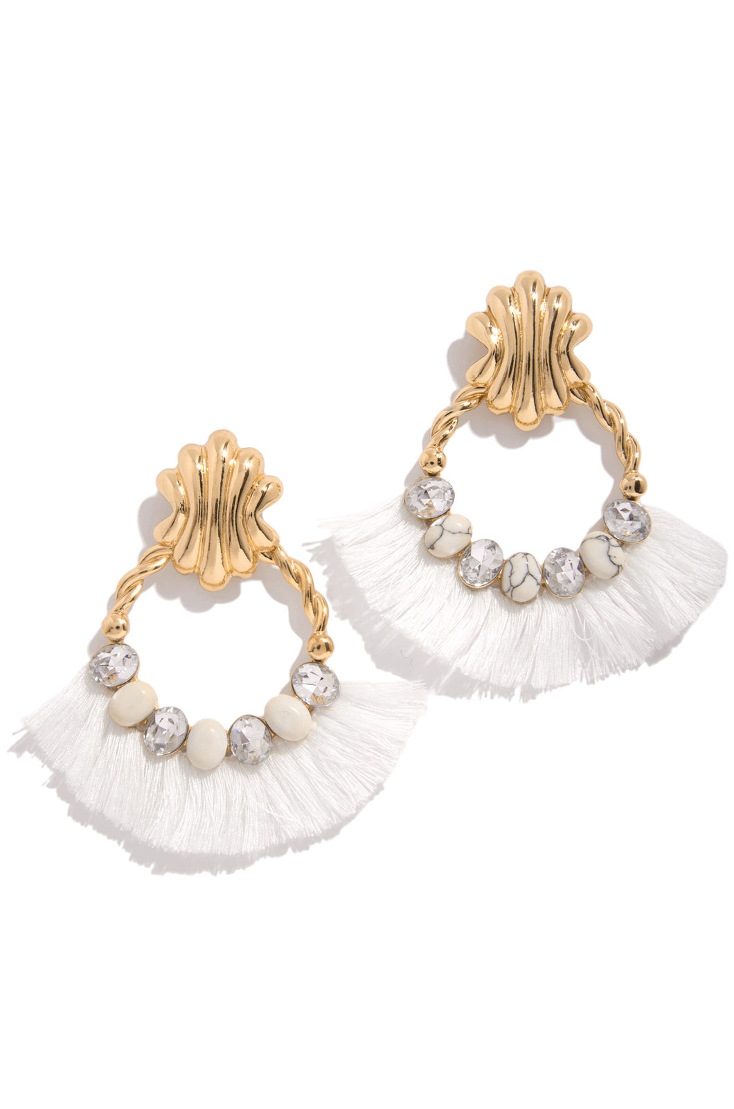 Sea Goddess Earring - White