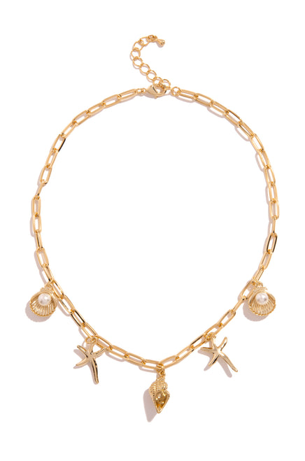 Island Free Necklace - Gold