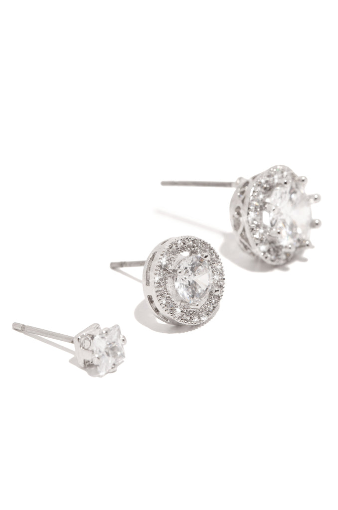 Duchess Earring Set - Silver