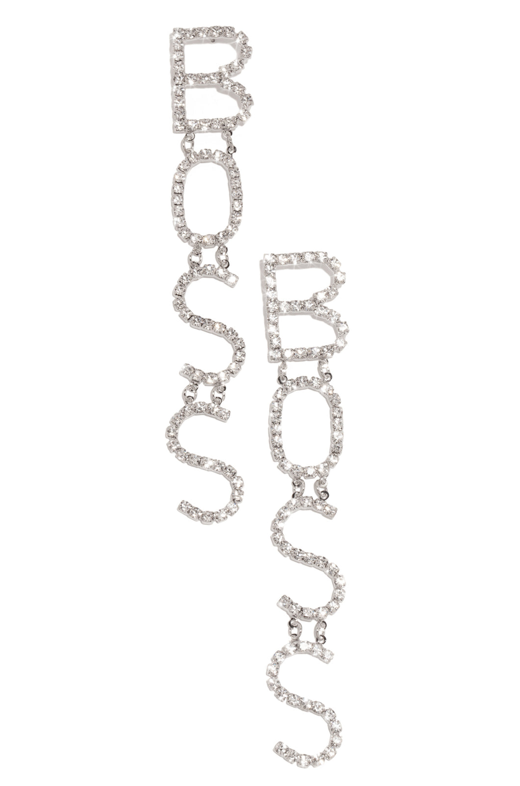 Boss Moves Earring - Silver