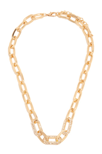 Locked In Love Necklace - Gold