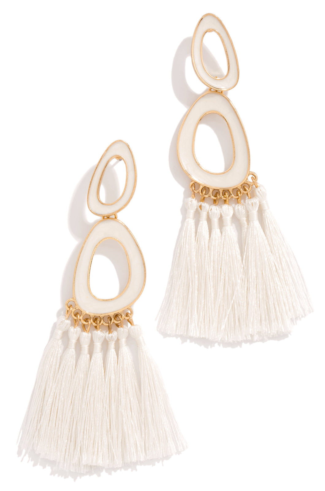 Trips To Tulum Earring - White