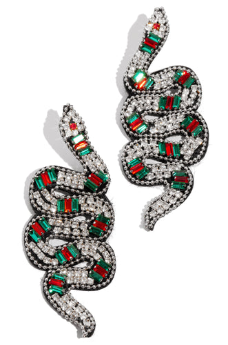 Forbidden Kiss Earring - Black Multi