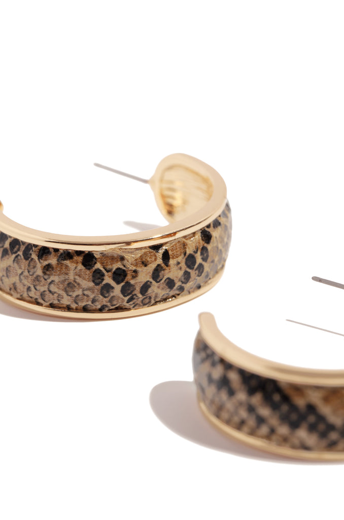 Pure Poison Earring - Gold Snake