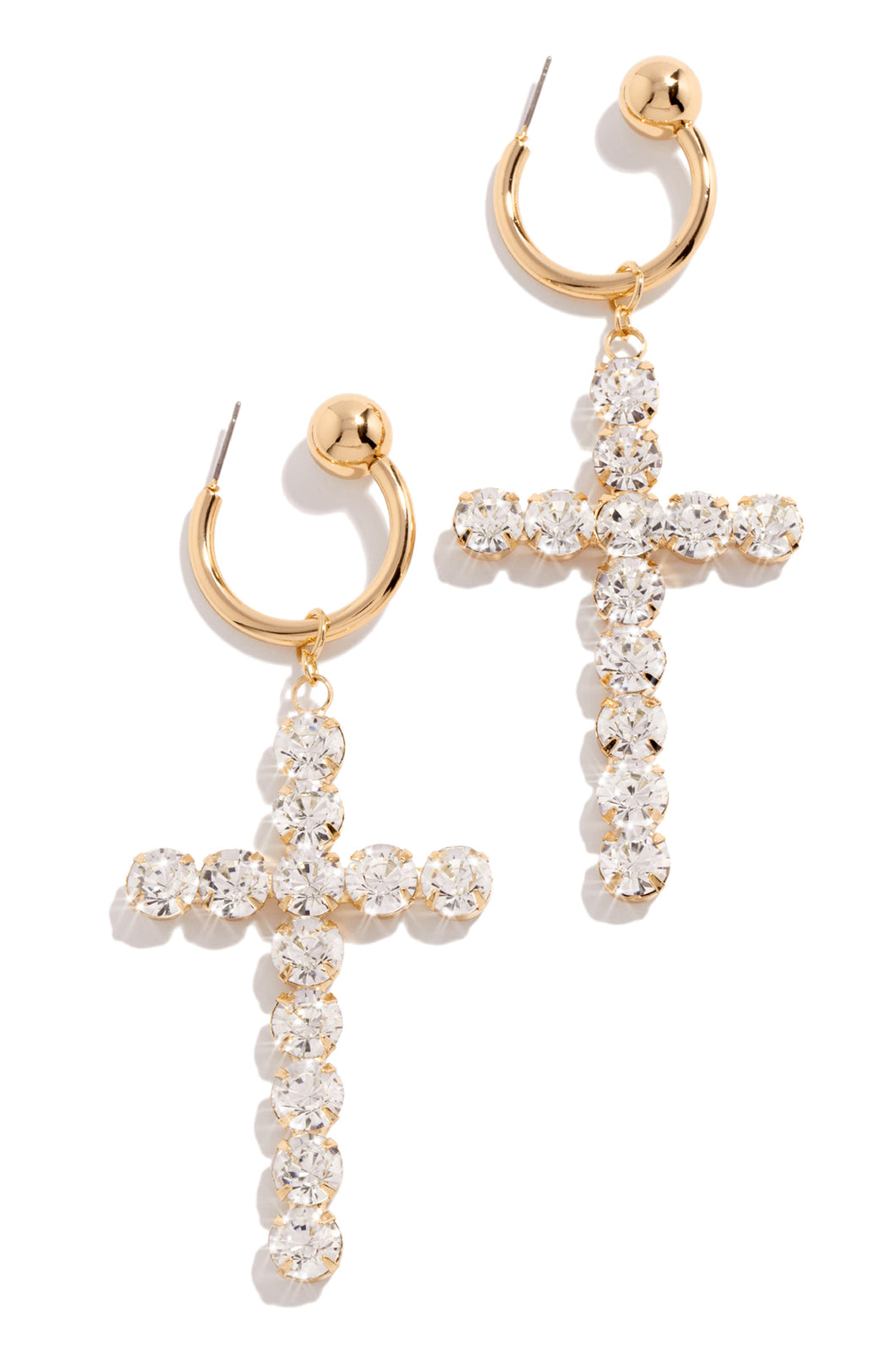 Clearly Faithful Earring - Gold