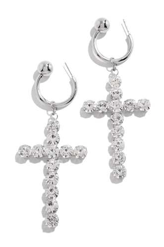 Clearly Faithful Earring - Silver