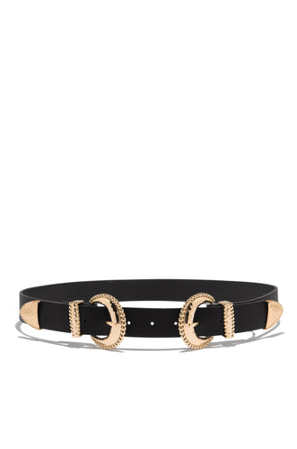 Luxe Design Belt - Black/Gold