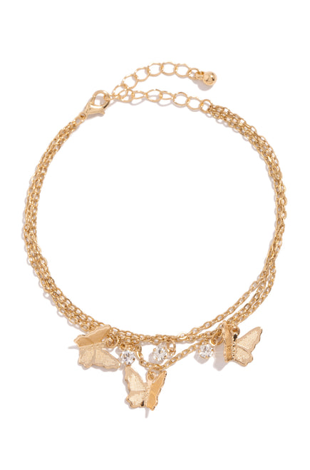 Fly Desire Anklet - Gold