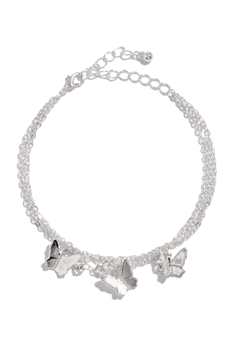 Fly Desire Anklet - Silver