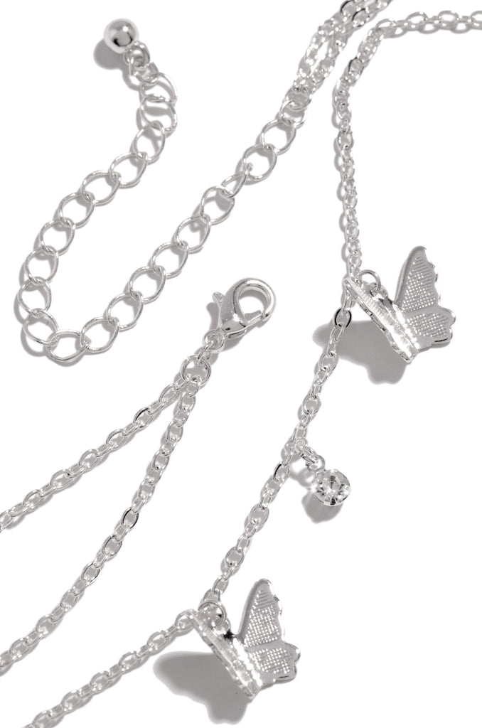 Fly Desire Necklace - Silver
