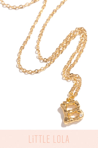 Mini B Necklace - Gold