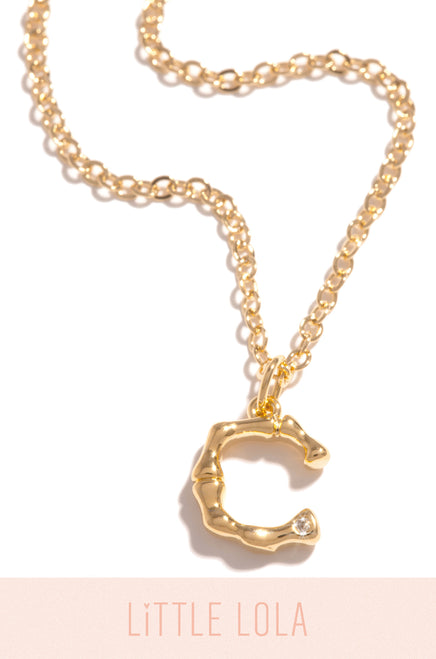 Mini C Necklace - Gold
