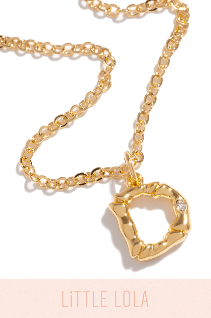 Mini D Necklace - Gold