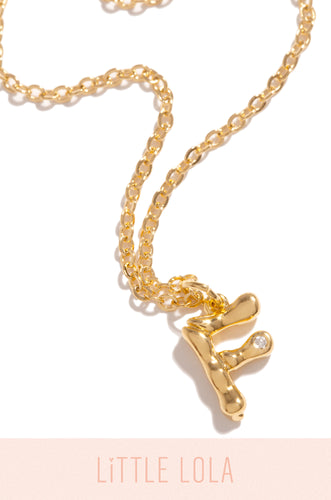 Mini F Necklace - Gold