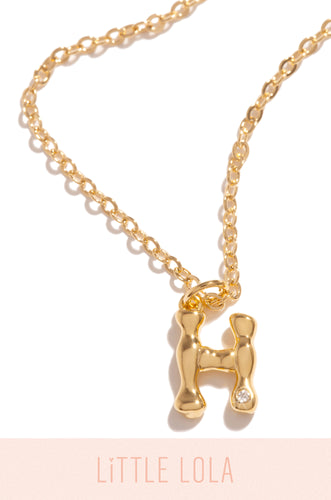 Mini H Necklace - Gold