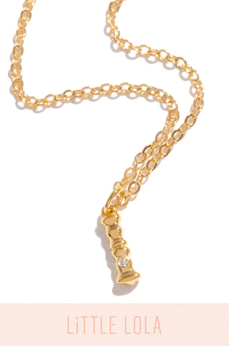 Mini I Necklace - Gold