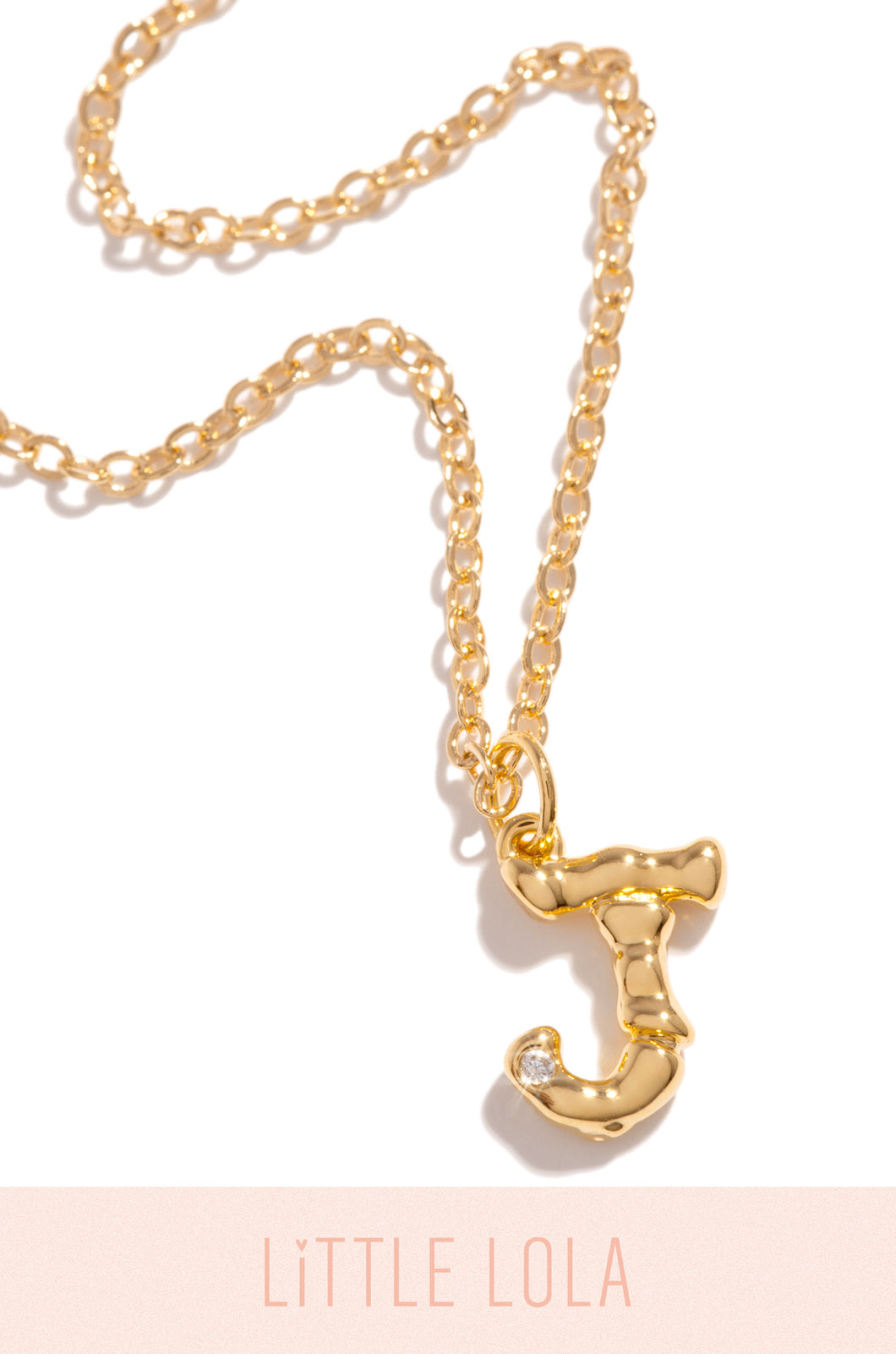 Mini J Necklace - Gold