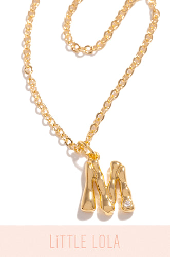 Mini M Necklace - Gold