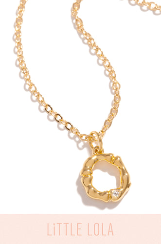 Mini O Necklace - Gold