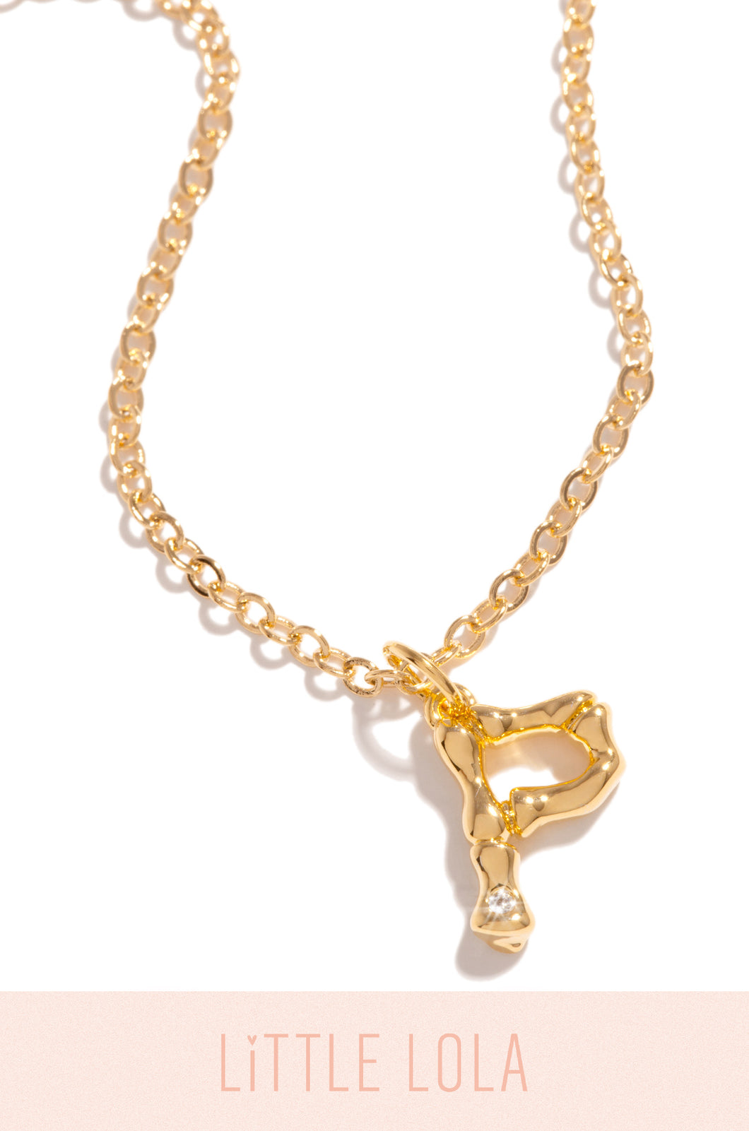 Mini P Necklace - Gold