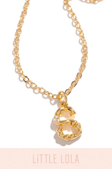 Mini S Necklace - Gold