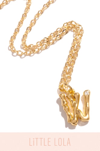 Mini W Necklace - Gold