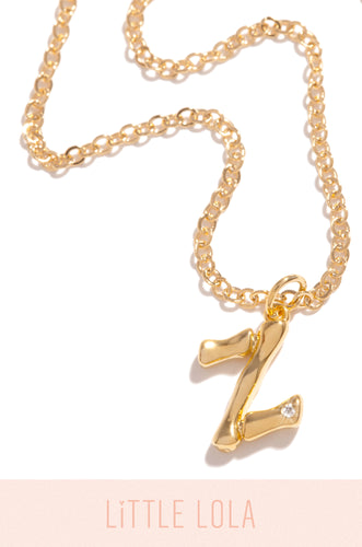 Mini Z Necklace - Gold