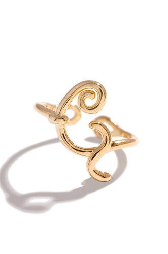 G Initial Ring - Gold