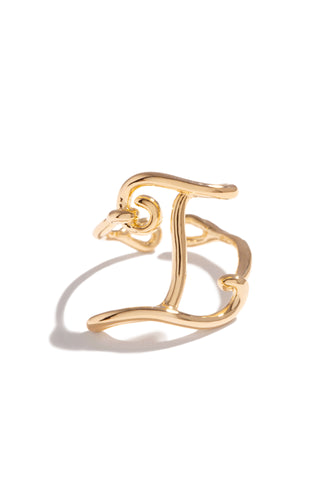I Initial Ring - Gold