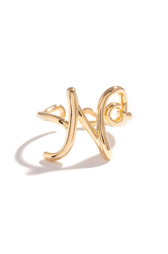 N Initial Ring - Gold
